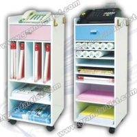 Fax/Telephohe office multi-function cabinet with casters