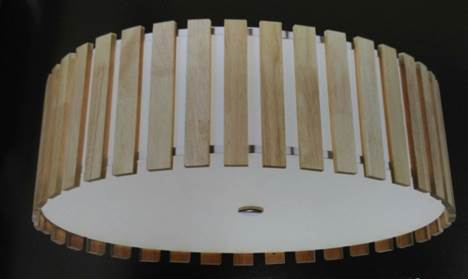 Flush-mounted ceiling lamp
