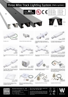 Three wired track lighting system (Halo system)