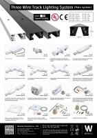 三线轨道灯系统及配件