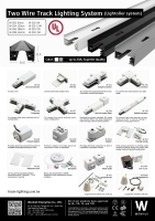 Two-wired track lighting system (Lightolier system)