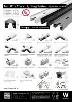 二線軌道燈系統及配件