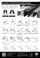 四线轨道灯系统及配件