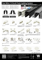 四线轨道灯照明系统及配件