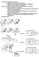 四線軌道電源頭及軌道頭安裝