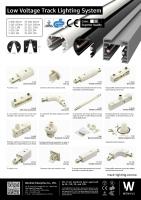 Mini track lighting system (low voltage)