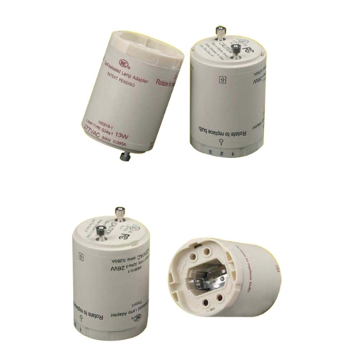 Electronic compact fluorescent ballasted lampholder GU24