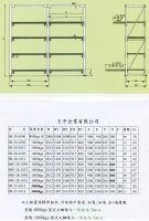Specifications for Storage Racks