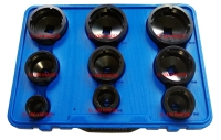 9-piece Special Socket Set with Inside Teeth for Locknuts