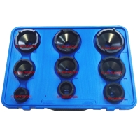 9-piece Special Socket Set with Outer Teeth for Locknuts