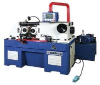 Hydraulic thru feed thread rolling machine