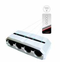 Remote Control 4 Way Socket