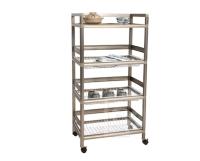 Three-tier Aluminum Rack (1.8 ft. wide; 3 aluminum baskets)
