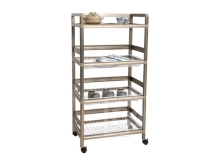 Three-tier Aluminum Rack (1.8 ft. wide; 3 aluminum baskets)
