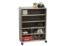Five-tier Door-less Shoe Cabinet (2.5 ft. wide)