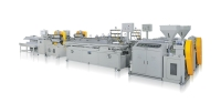 PVC PLASTIC WOOD COMPOSITE/TPE/PS PROFILE EXTRUSION MACHINE