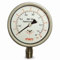 ALL STAINLESS STEEL CAPSULE PRESSURE GAUGE