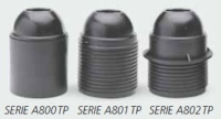 E27 three-piece thermoplastic lampholder