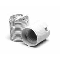 E27 one-piece thermoplastic lampholder