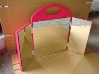 二用桌上三面镜