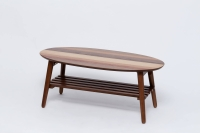 Oval attached batts parquet table