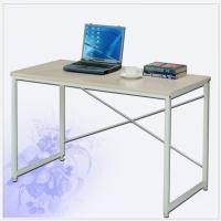 簡單書桌(木紋 洗白色)
