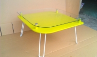 Shape double layer glass table  二層硝子テープル