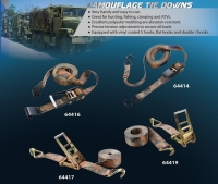 CAMOUFLAGE Ratchet Tie Down w/ Hooks