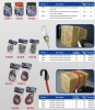 Stretch cord w/stainless steel hooks, Flat strap w/plastic hooks