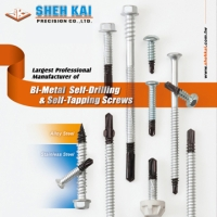 Bi-metal self-drilling screw