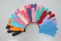 五指素色手套