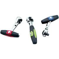 T-shape Swivel Ratchet/Speed turn T-Handle T-bar swivel reversing socket ratchet wrench