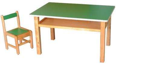 艾格七彩幼教桌椅組