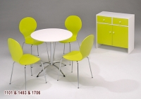 Dining Table & Chair Set / Stacking Chairs / Storage Stands