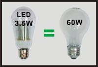 60W LED Bulbs E26. B22
