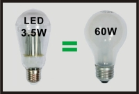 60W LED Bulbs E26. B22