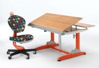 Height Adjustable Tilt Desk + Swivel Chair