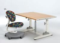Height Adjustable Desk + Swivel Chair w/Footrest