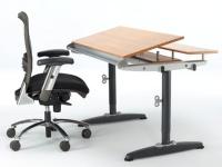 Manual Height Adjustable Tilt Table + e-Chair