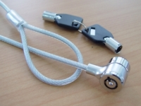 笔记型电脑钢线锁