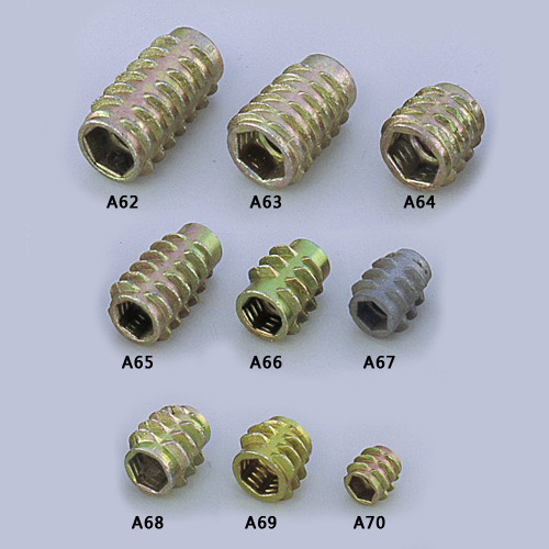 Threaded inserts (E-type)