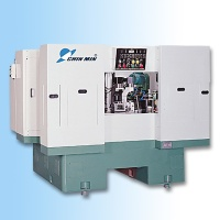 Rotary type six-station drilling and tapping machine