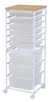 9-tier Storage Wire Rack (With 6 Shallow Baskets + 3 Tall Baskets)