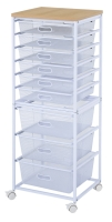 9-Tier Storage Rack (With 6 Shallow Iron Mesh Baskets + 3 Tall Iron Mesh Baskets)