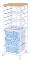 6-Tier Storage Rack (With3 Iron Wire Baskets + 3 PP Baskets)
