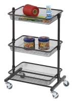 3-Tier Storage Rack (With 3 Iron Mesh Baskets)
