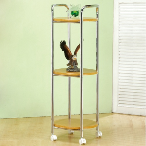 Three-Stage, Multipurpose, Movable, Round Storage Rack