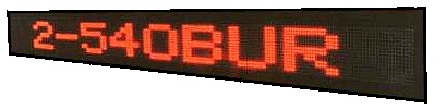 LED Moving Sign Outdoor/Semi-Outdoor 'BU' Series