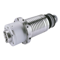 Belt-driven milling spindle