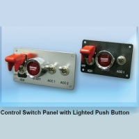 Control Switch Panel with Lighted Push Button